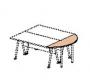 Крышка стола приставного 61530