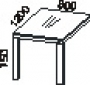 Приставной конференц стол