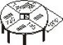Конференц-стол сегментный 20 круглый