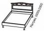 Кровать (на металлических опорах)