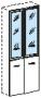 Двери к шкафу ШД13 стеклянные в алюминиевой раме (2шт)