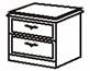 Тумба прикроватная (2 ящика)