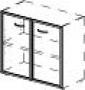Двери стеклянные для низкого шкафа