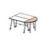 Крышка стола приставного 61526