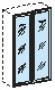 Двери к шкафу ШД33 стеклянные в алюминиевой раме (2шт)